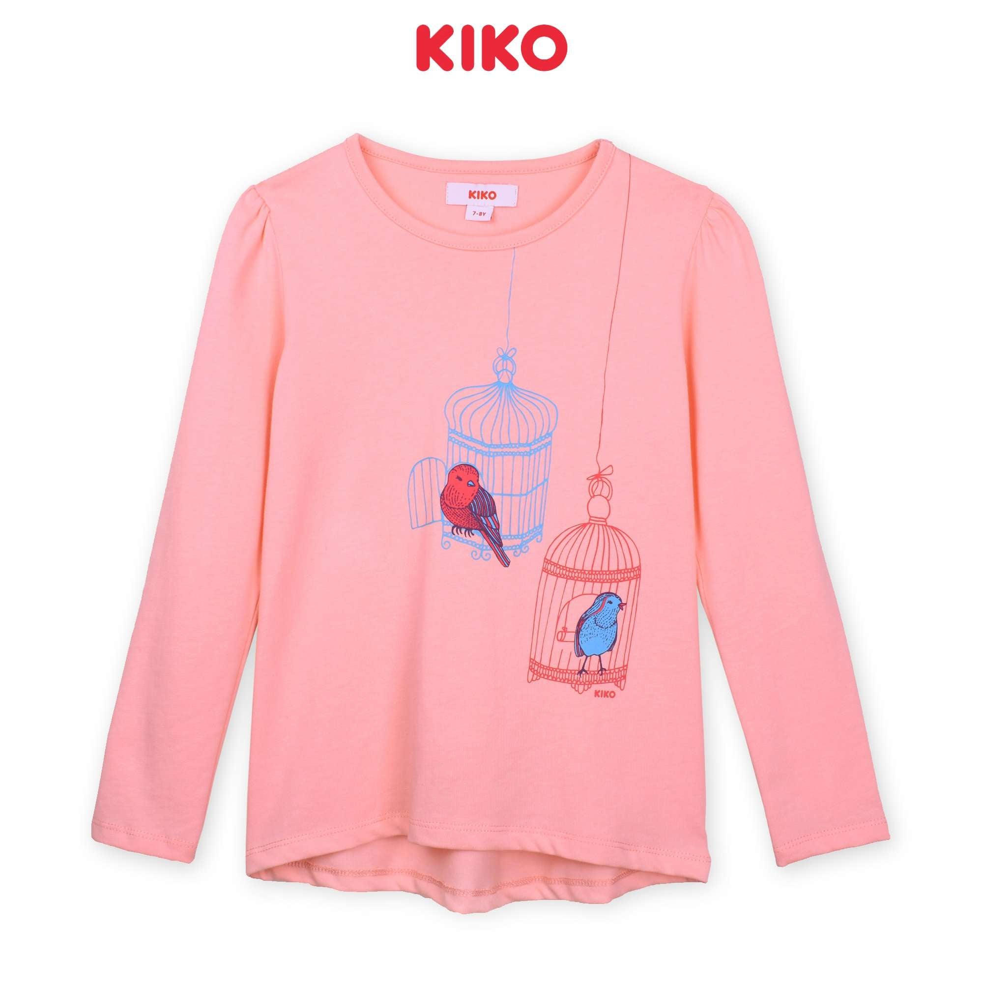 KIKO Girl Long Sleeve Tee - Pink K925103-1375-P5 : Buy KIKO online at CMG.MY