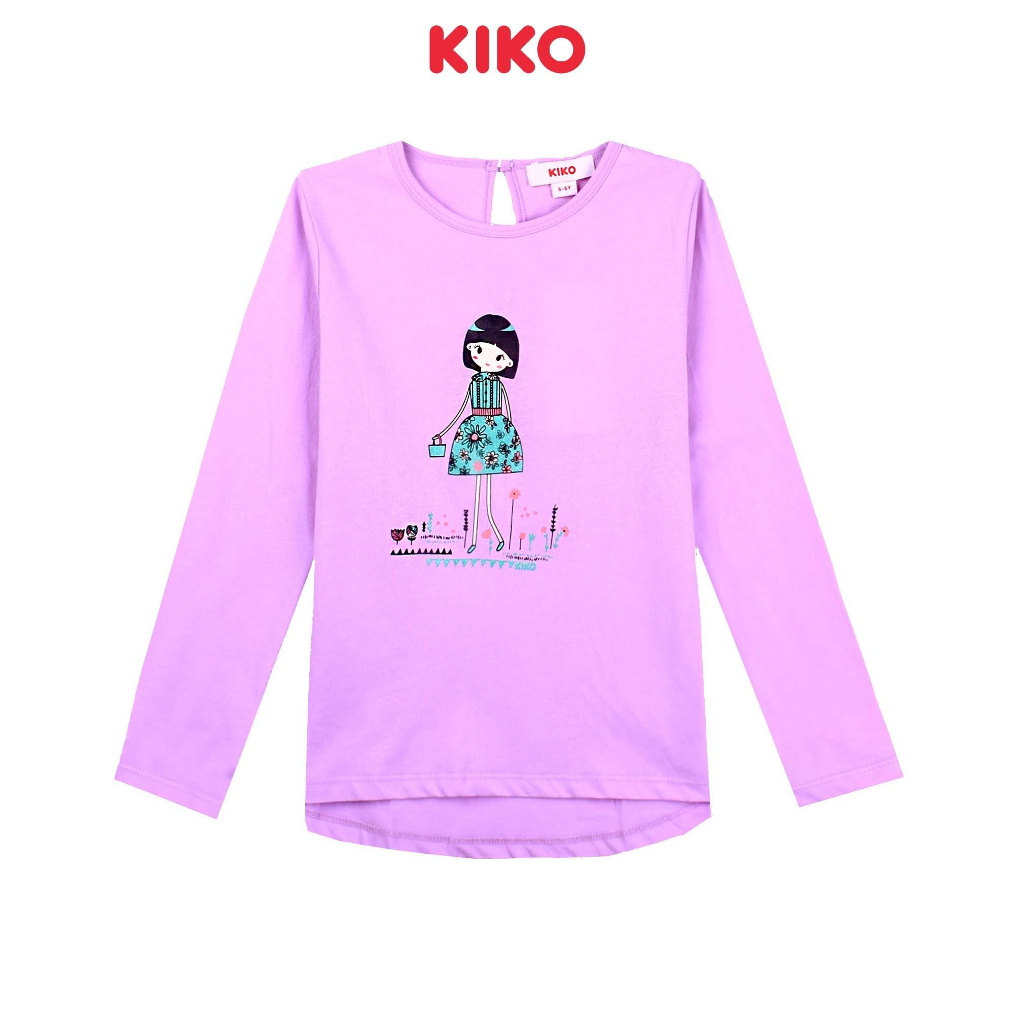 KIKO Girl Long Sleeve Tee - Purple K925103-1342-U5 : Buy KIKO online at CMG.MY