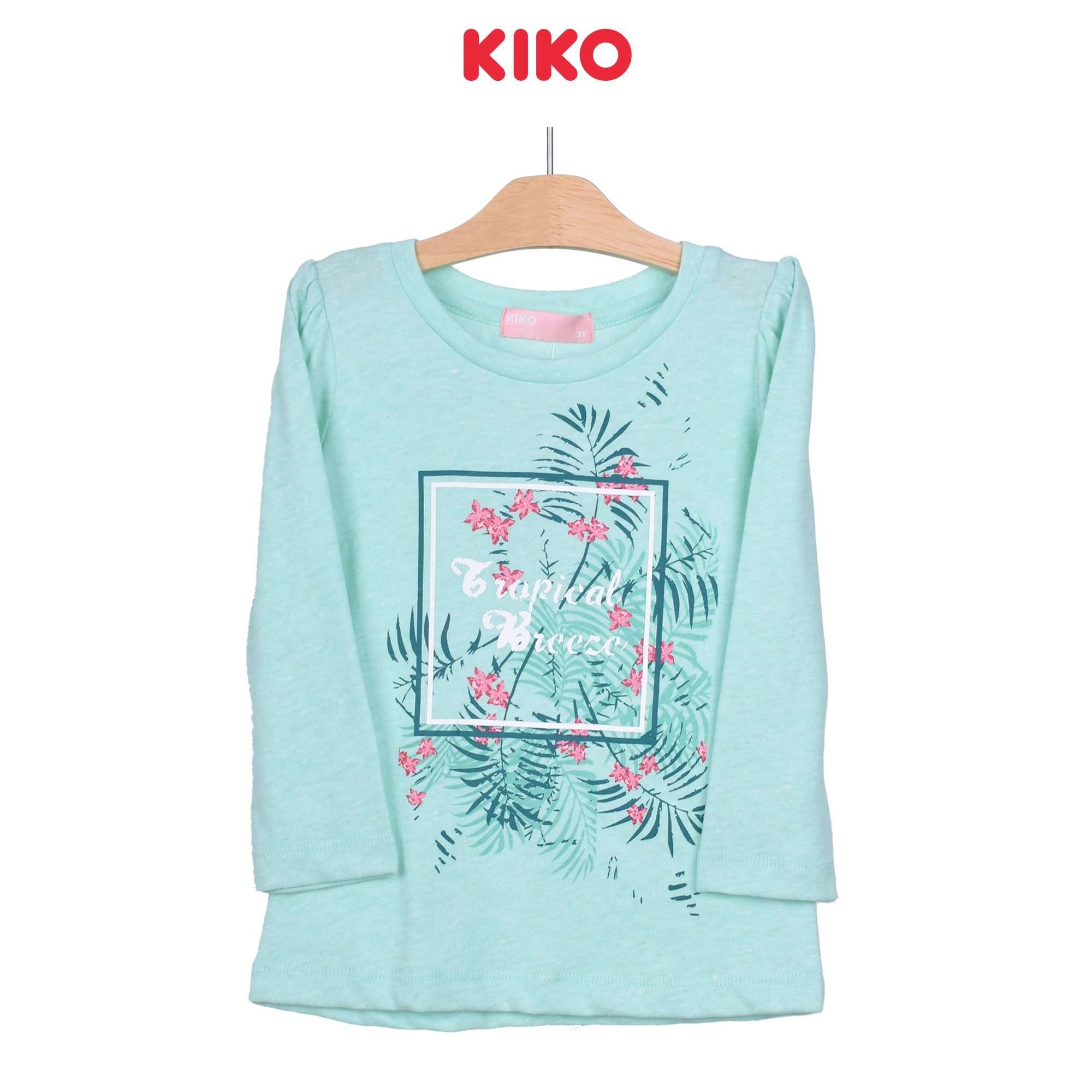 KIKO Girl Round Neck Long Sleeve Tee - Green 126073-132 : Buy KIKO online at CMG.MY