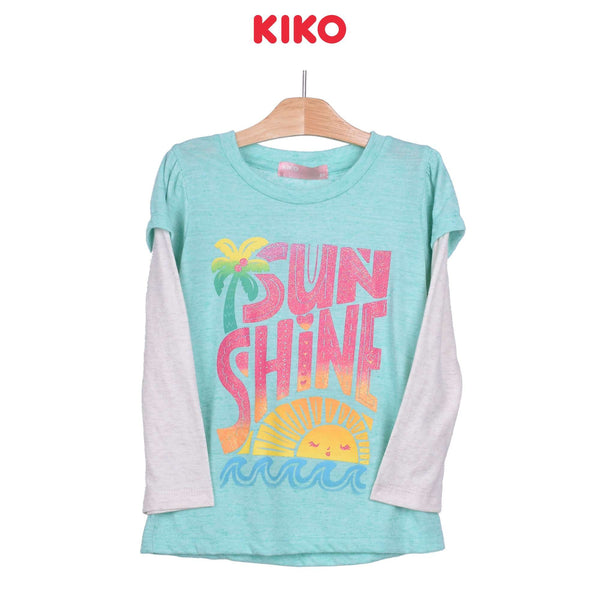 KIKO Girl Round Neck Long Sleeve Tee - Green 126074-133 : Buy KIKO online at CMG.MY