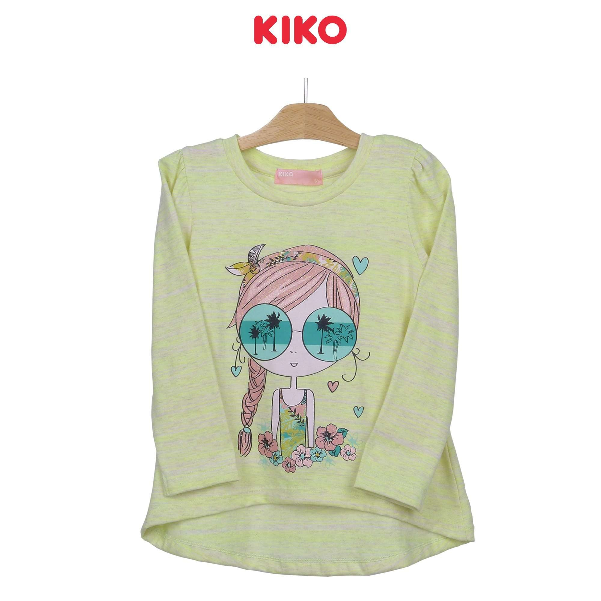 KIKO Girl Round Neck Long Sleeve Tee 126073-131 : Buy KIKO online at CMG.MY