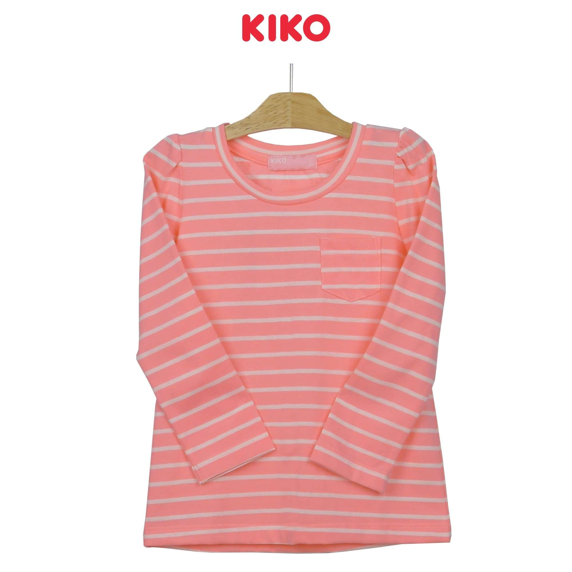 KIKO Girl Round Neck Long Sleeve Tee 126075-132 : Buy KIKO online at CMG.MY
