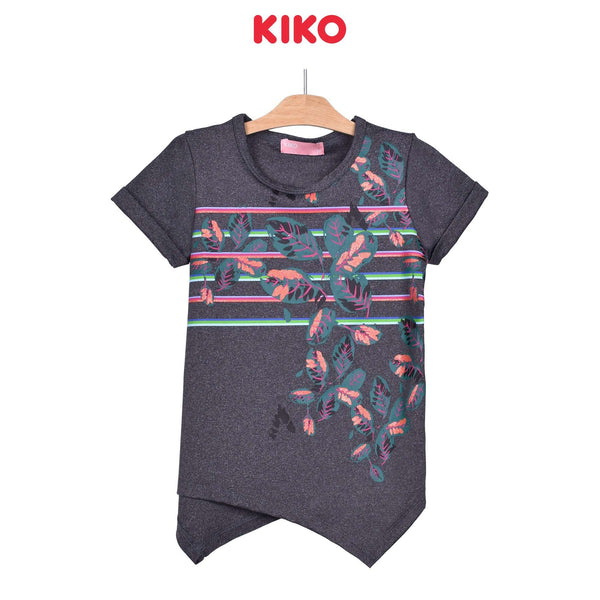 KIKO Girl Round Neck Short Sleeve Tee - Dark Grey 135075-111 : Buy KIKO online at CMG.MY