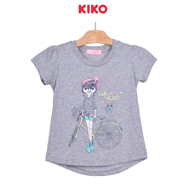 KIKO Girl Round Neck Short Sleeve Tee - Melange 126075-111 : Buy KIKO online at CMG.MY