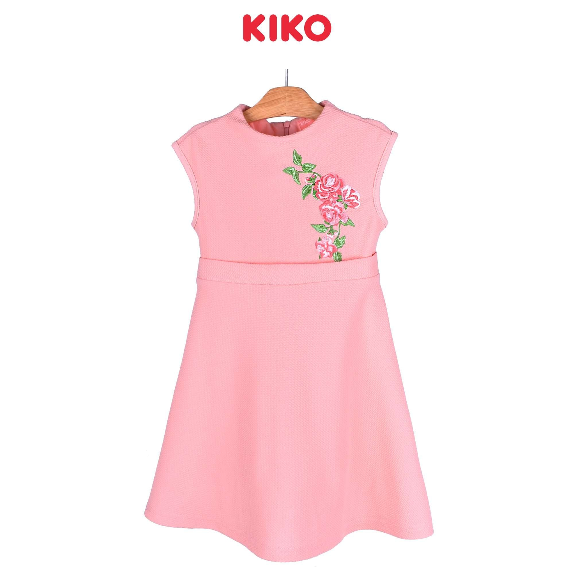 KIKO Girl Short Sleeve Dress - Peach 115077-322 : Buy KIKO online at CMG.MY