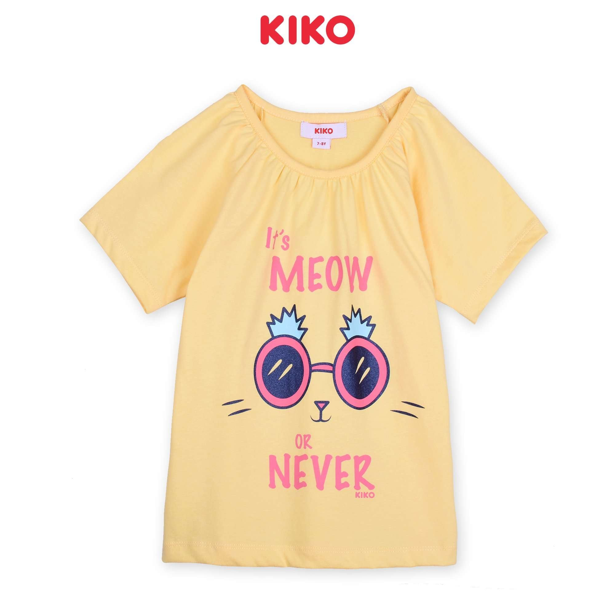 KIKO Girl Short Sleeve Tee - Yellow K926103-1136-Y5 : Buy KIKO online at CMG.MY