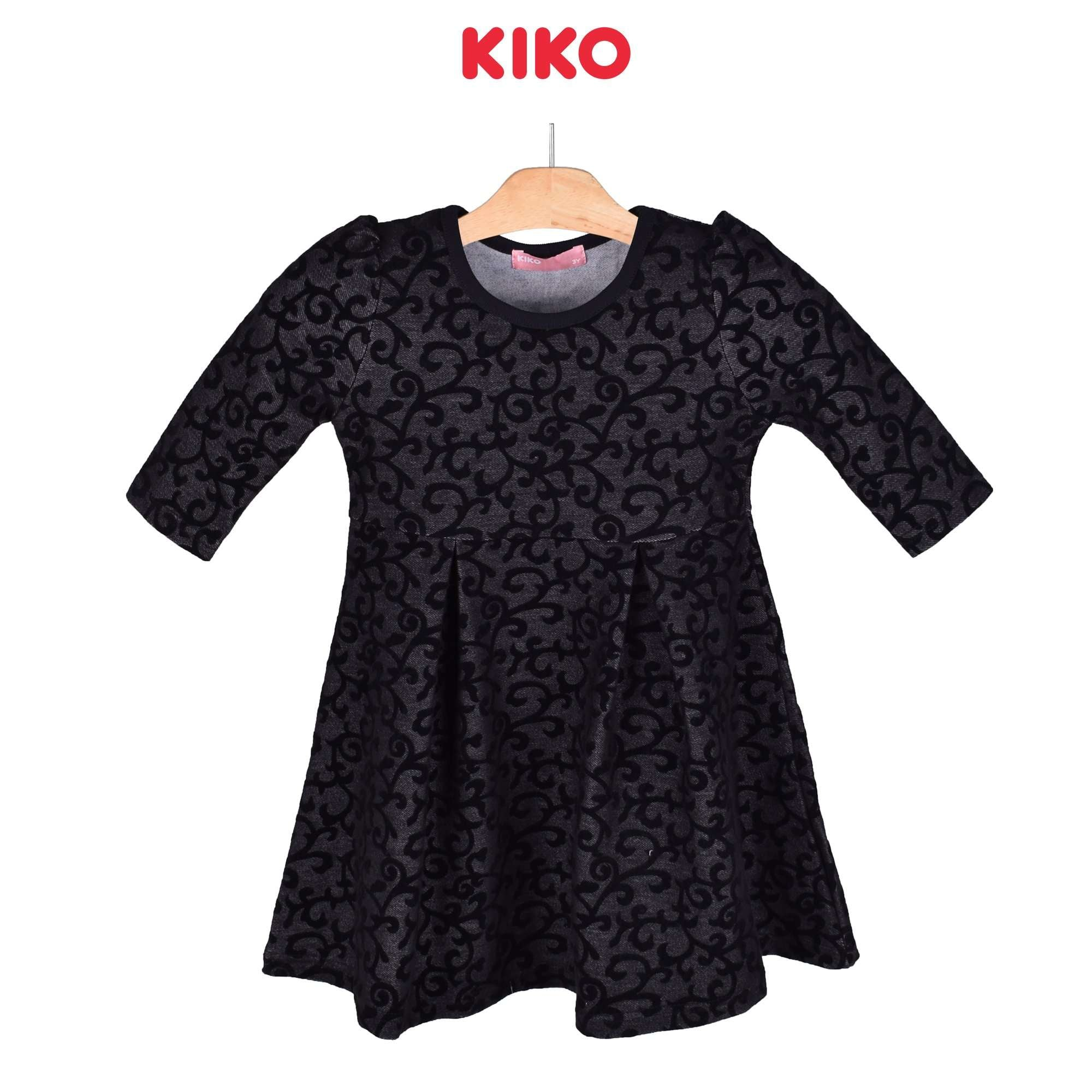 KIKO Girl Three Quarters Sleeve Dress Knit 126072-331 : Buy KIKO online at CMG.MY
