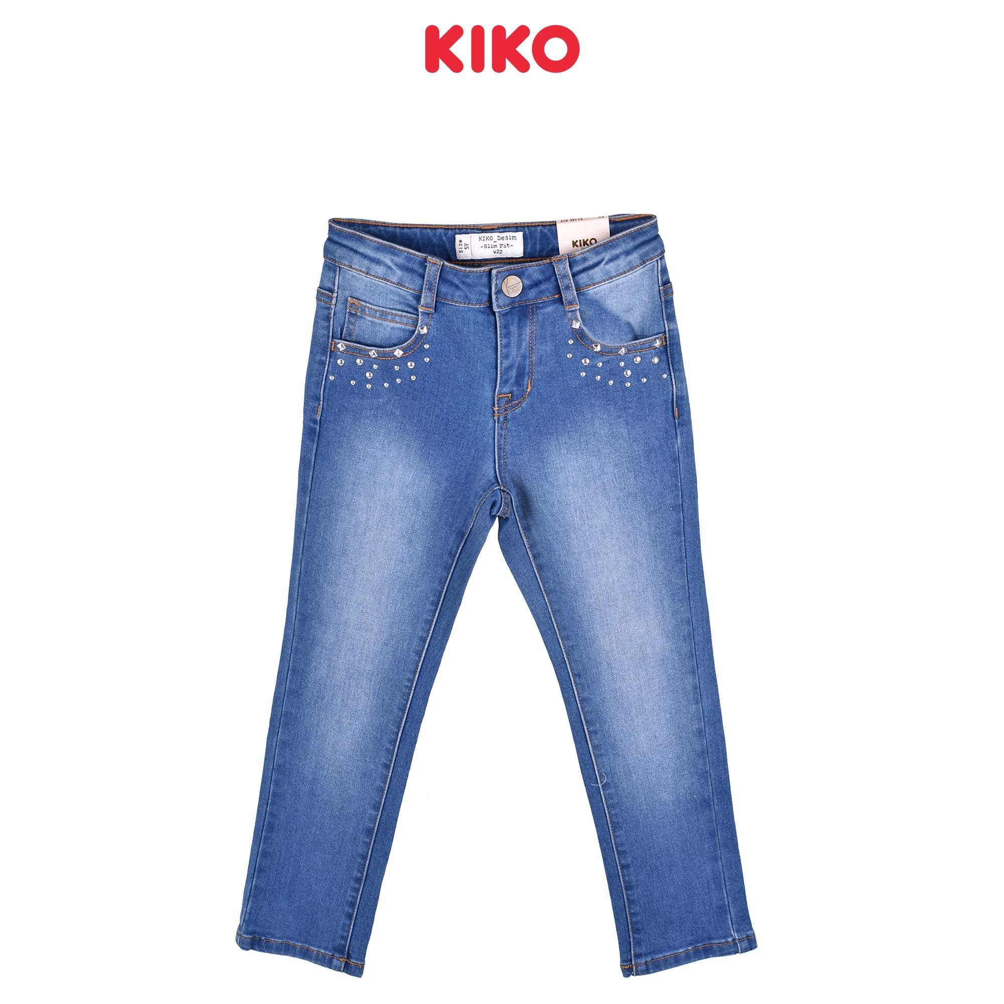 KIKO Girl Jeans Slim Fit - Blue 115057-211 : Buy KIKO online at CMG.MY