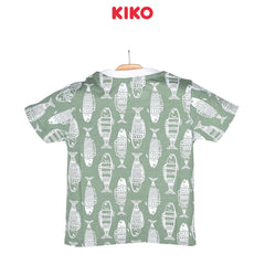KIKO Boy Short Sleeve Tee - Green 121255-112 : Buy KIKO online at CMG.MY