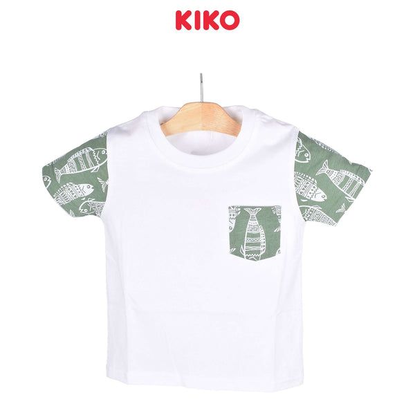 KIKO Boy Short Sleeve Tee Off White 121255-113 : Buy KIKO online at CMG.MY