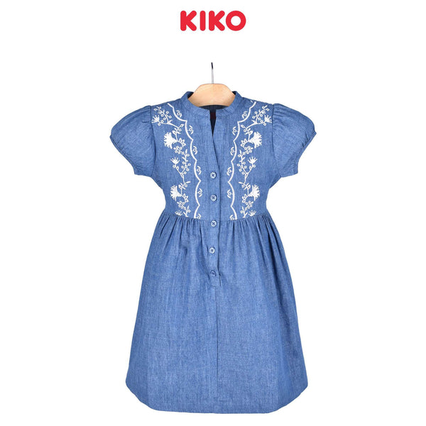 KIKO Girl Short Sleeve Dress Blue 115054-311 : Buy KIKO online at CMG.MY