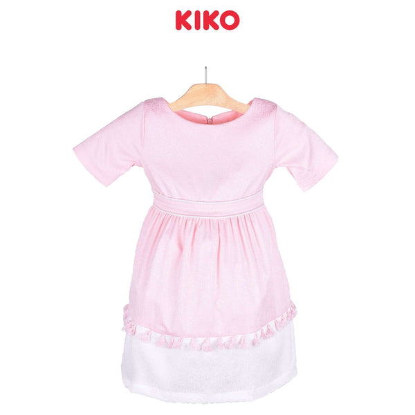 KIKO Girl Short Sleeve Dress Pink 115059-312 : Buy KIKO online at CMG.MY
