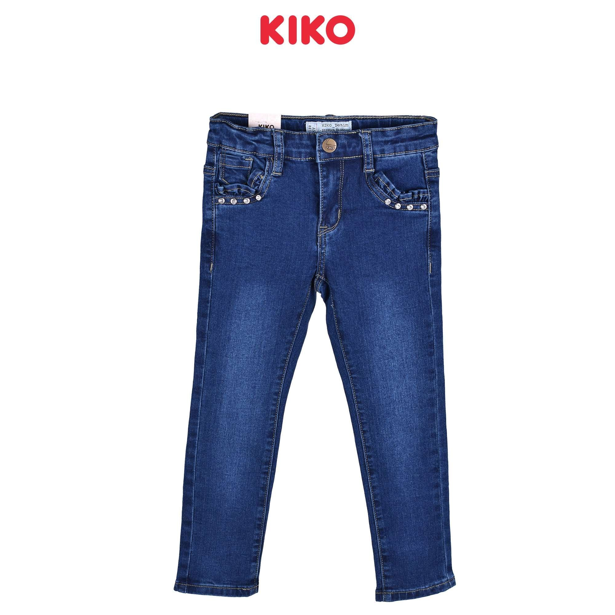 KIKO Girl Jeans Skinny Fit - Blue 135063-211 : Buy KIKO online at CMG.MY