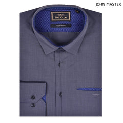 The Club Tapered Fit Cotton Long Sleeve Shirt Long Sleeve Shirt Dark Gray 9705713 : Buy John Master online at CMG.MY