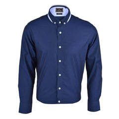 The Club Tapered Fit Cotton Long Sleeve Shirt Long Sleeve Shirt Navy 9707707 : Buy John Master online at CMG.MY