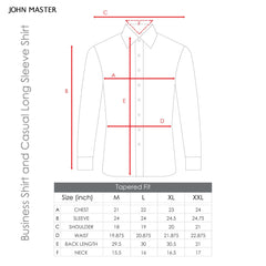 The Club Tapered Fit Cotton Long Sleeve Shirt Long Sleeve Shirt Navy 9707709 : Buy John Master online at CMG.MY
