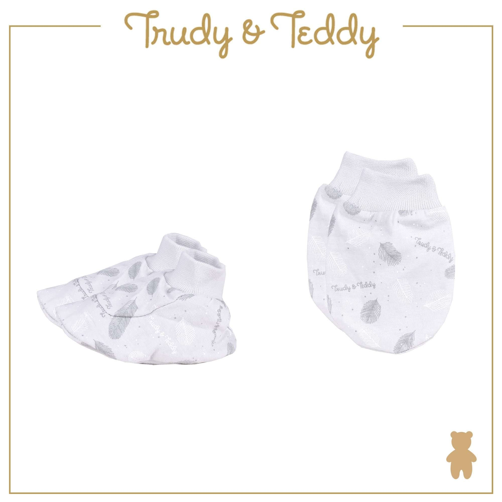 Trudy & Teddy Baby Boy Mitten & Booties 820029-701 : Buy Trudy & Teddy online at CMG.MY