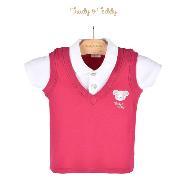 Trudy & Teddy Baby Boy Short Sleeve Collar Tee 810089-121 : Buy Trudy & Teddy online at CMG.MY