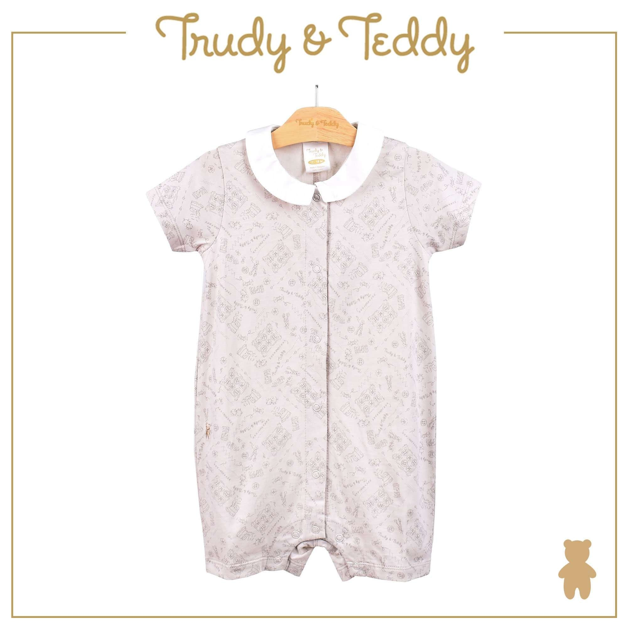 Trudy & Teddy Baby Boy Short Sleeve Short Romper 810022-361 : Buy Trudy & Teddy online at CMG.MY