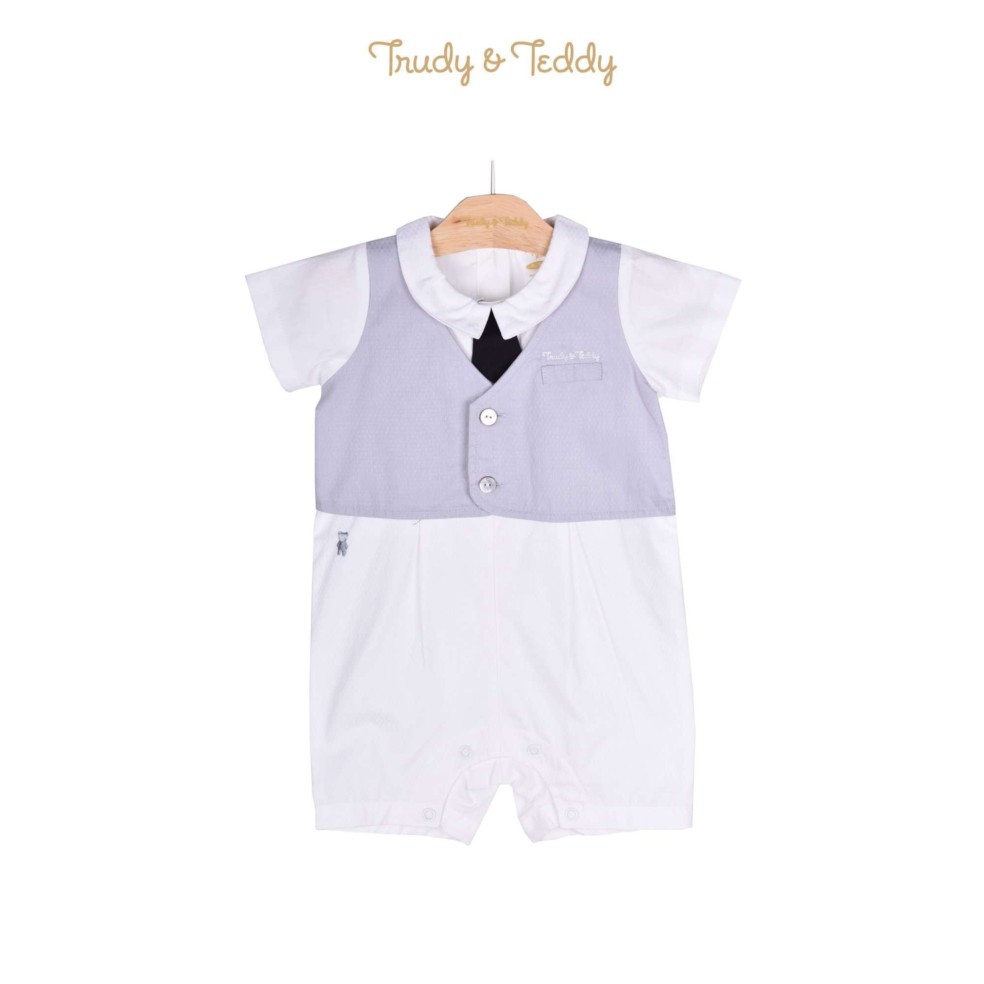 Trudy & Teddy Baby Boy Short Sleeve Short Romper 810029-351 : Buy Trudy & Teddy online at CMG.MY