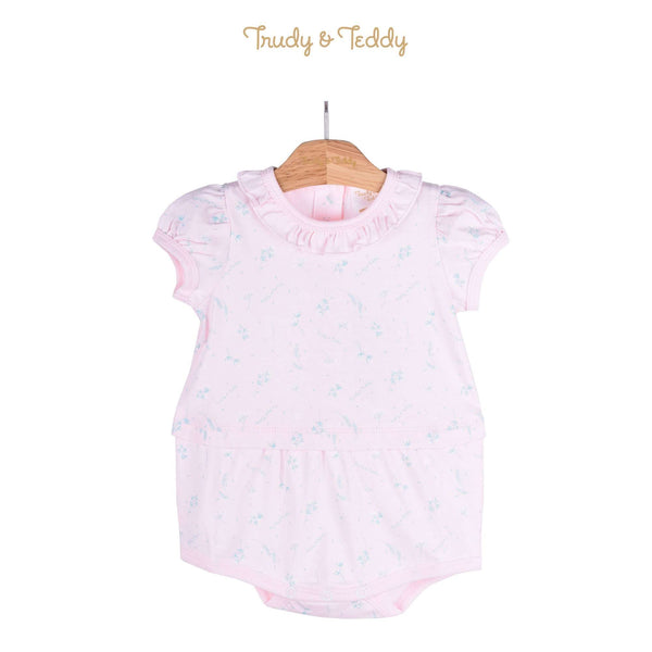 Trudy & Teddy Baby Girl Knit Short Sleeve Short Romper 820021-361 : Buy Trudy & Teddy online at CMG.MY