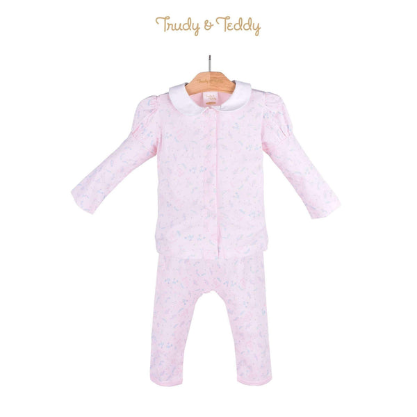 Trudy & Teddy Baby Girl Long Sleeve Long Pants Suit 820022-431 : Buy Trudy & Teddy online at CMG.MY