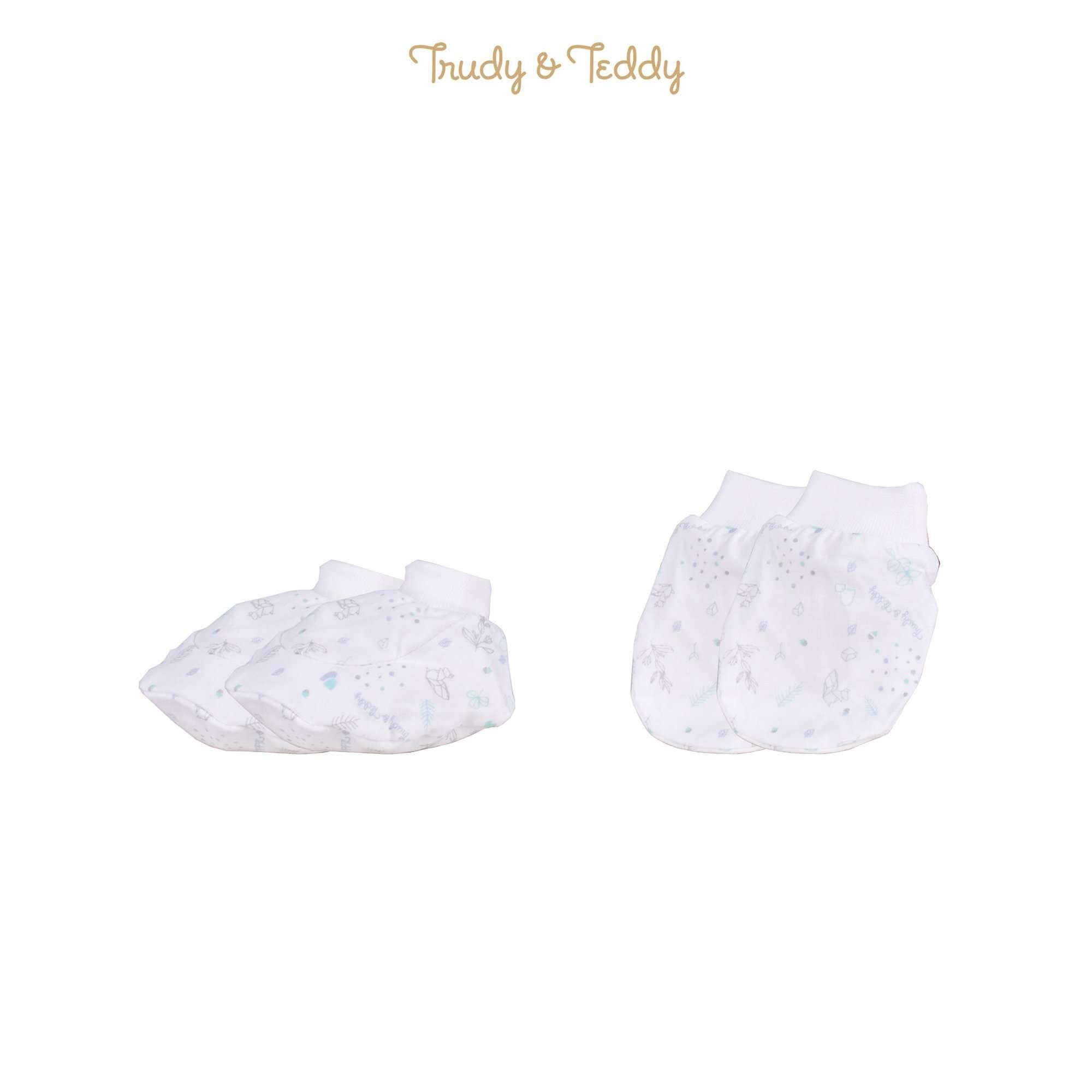 Trudy & Teddy Baby Girl Mitten & Booties 820030-701 : Buy Trudy & Teddy online at CMG.MY