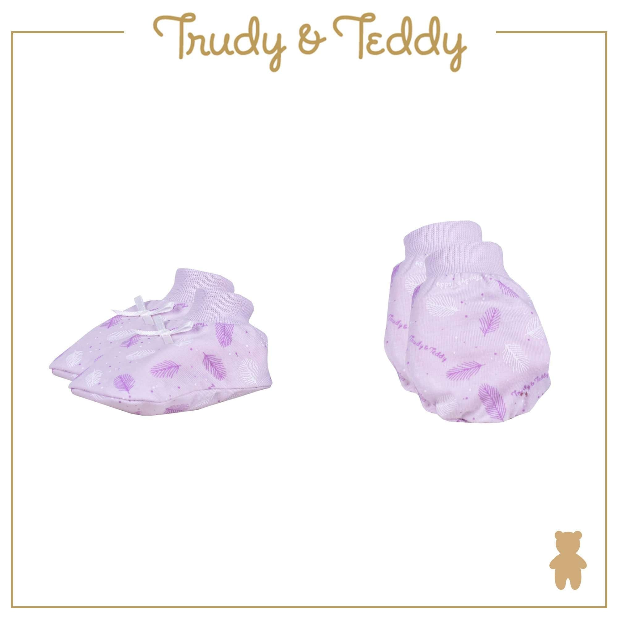 Trudy & Teddy Baby Girl Mitten & Booties 820031-701 : Buy Trudy & Teddy online at CMG.MY