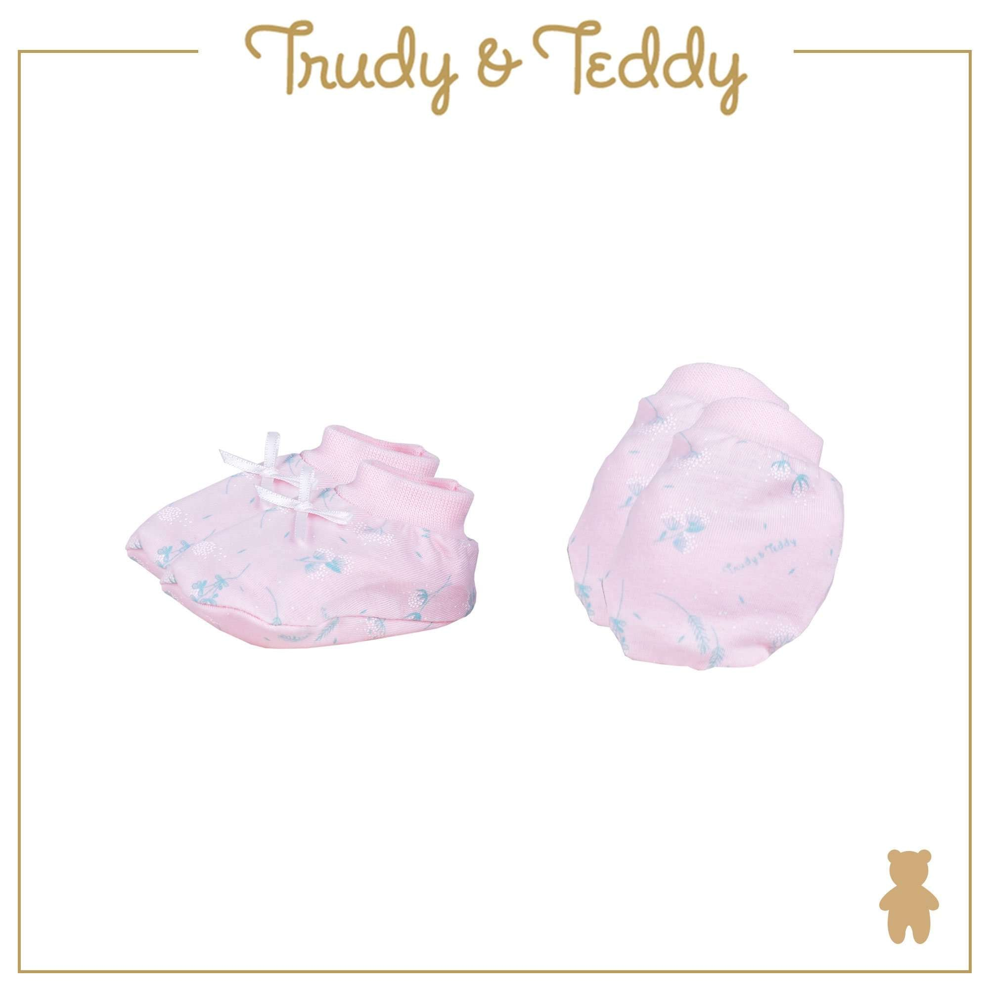 Trudy & Teddy Baby Girl Mitten & Booties 820032-701 : Buy Trudy & Teddy online at CMG.MY