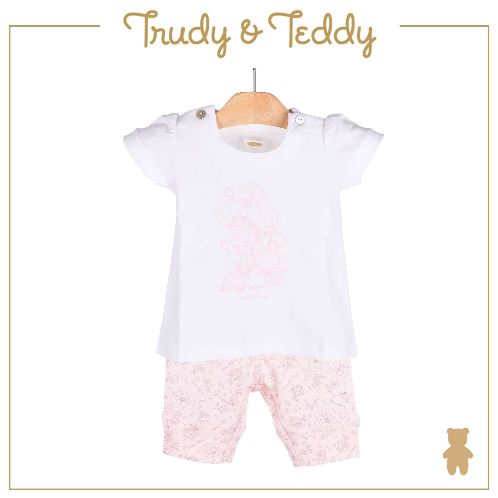 Trudy & Teddy Baby Girl Short Sleeve Bermuda Suit 820028-413 : Buy Trudy & Teddy online at CMG.MY