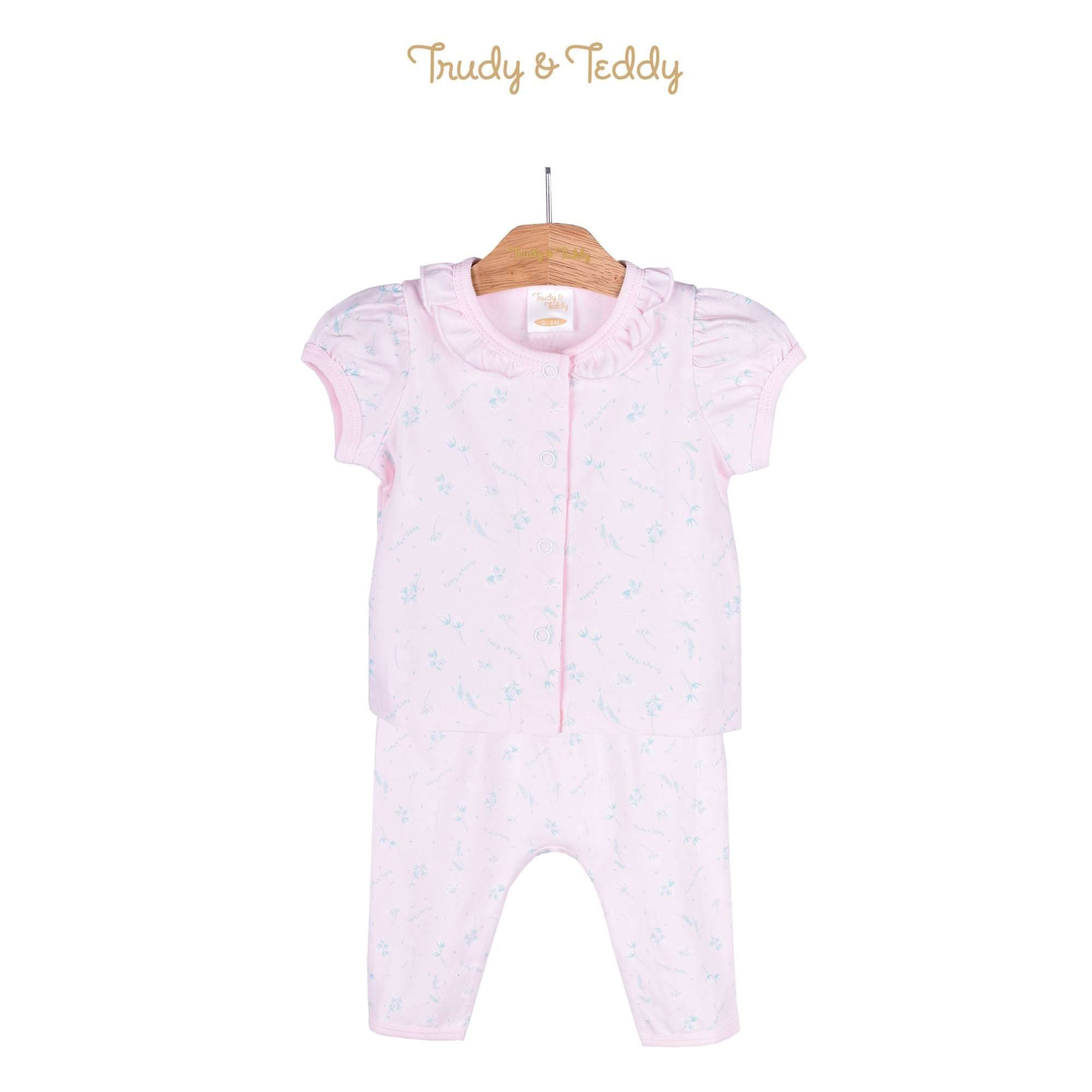 Trudy & Teddy Baby Girl Short Sleeve Long Pants Suit 820032-421 : Buy Trudy & Teddy online at CMG.MY