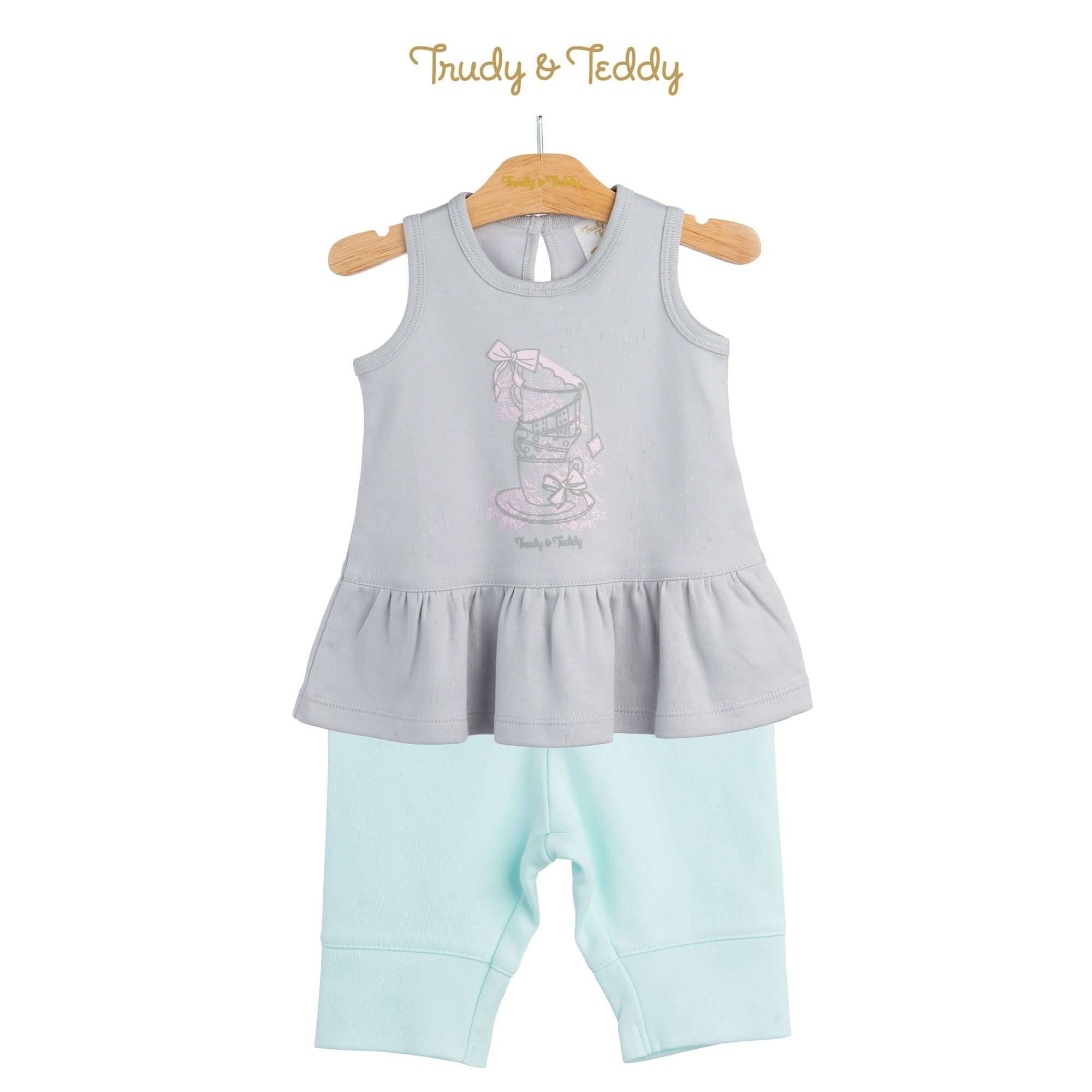Trudy & Teddy Baby Girl Sleeveless Bermuda Suit 820043-401 : Buy Trudy & Teddy online at CMG.MY