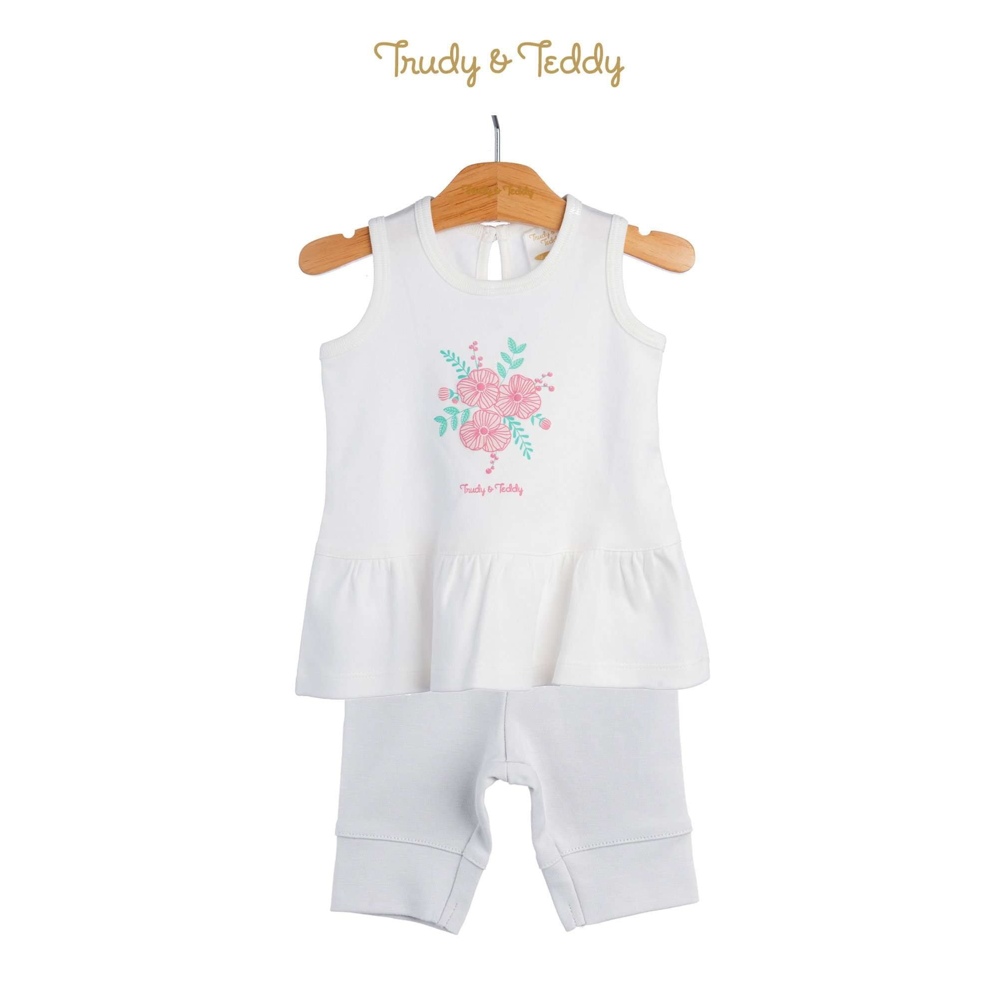Trudy & Teddy Baby Girl Sleeveless Bermuda Suit 820043-403 : Buy Trudy & Teddy online at CMG.MY