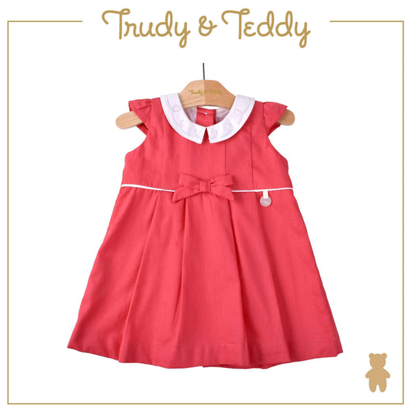 Trudy & Teddy Baby Girl Woven Short Sleeve Dress- Red 810127-311 : Buy Trudy & Teddy online at CMG.MY