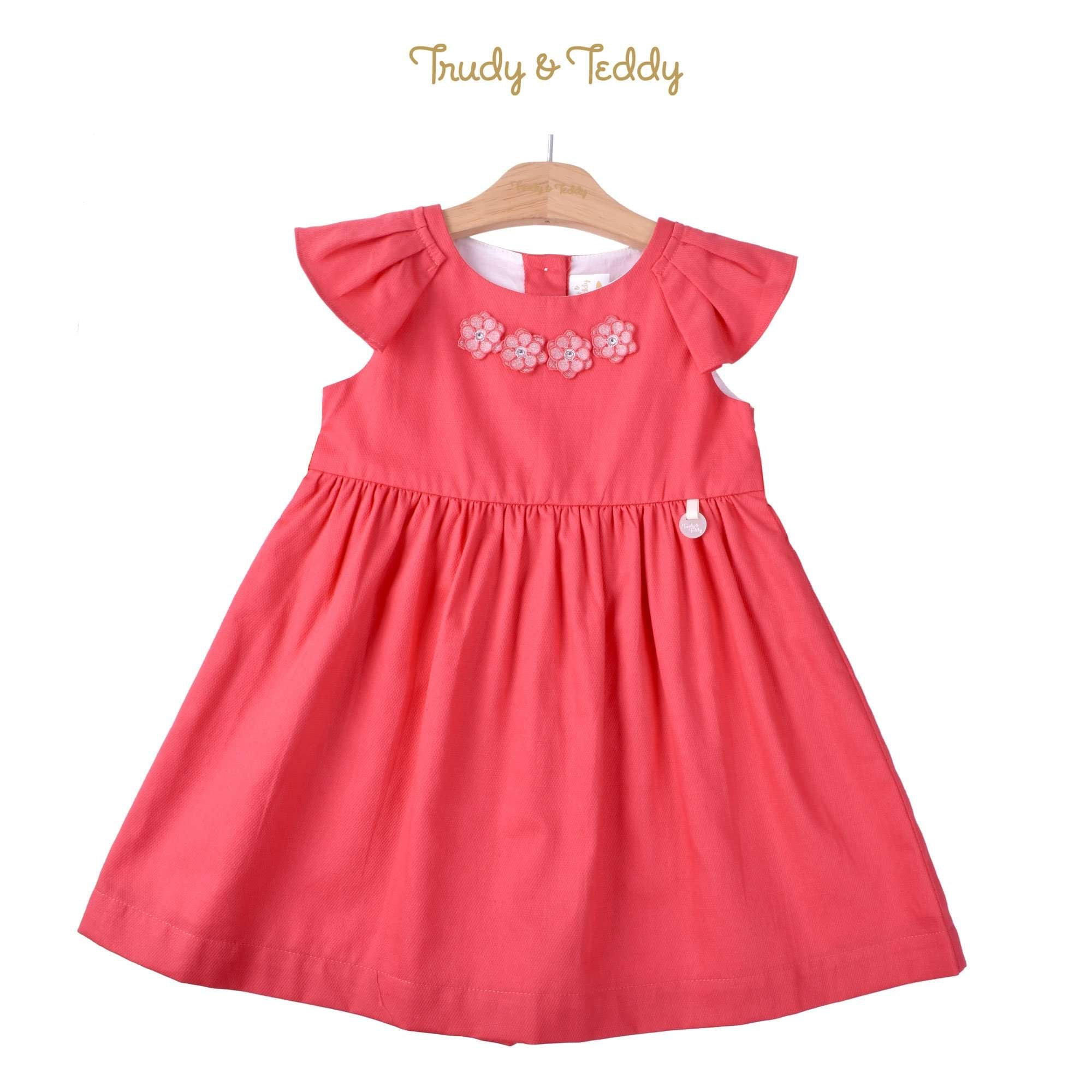 Trudy & Teddy Girl Woven Short Sleeve Dress- Red 815164-311 : Buy Trudy & Teddy online at CMG.MY