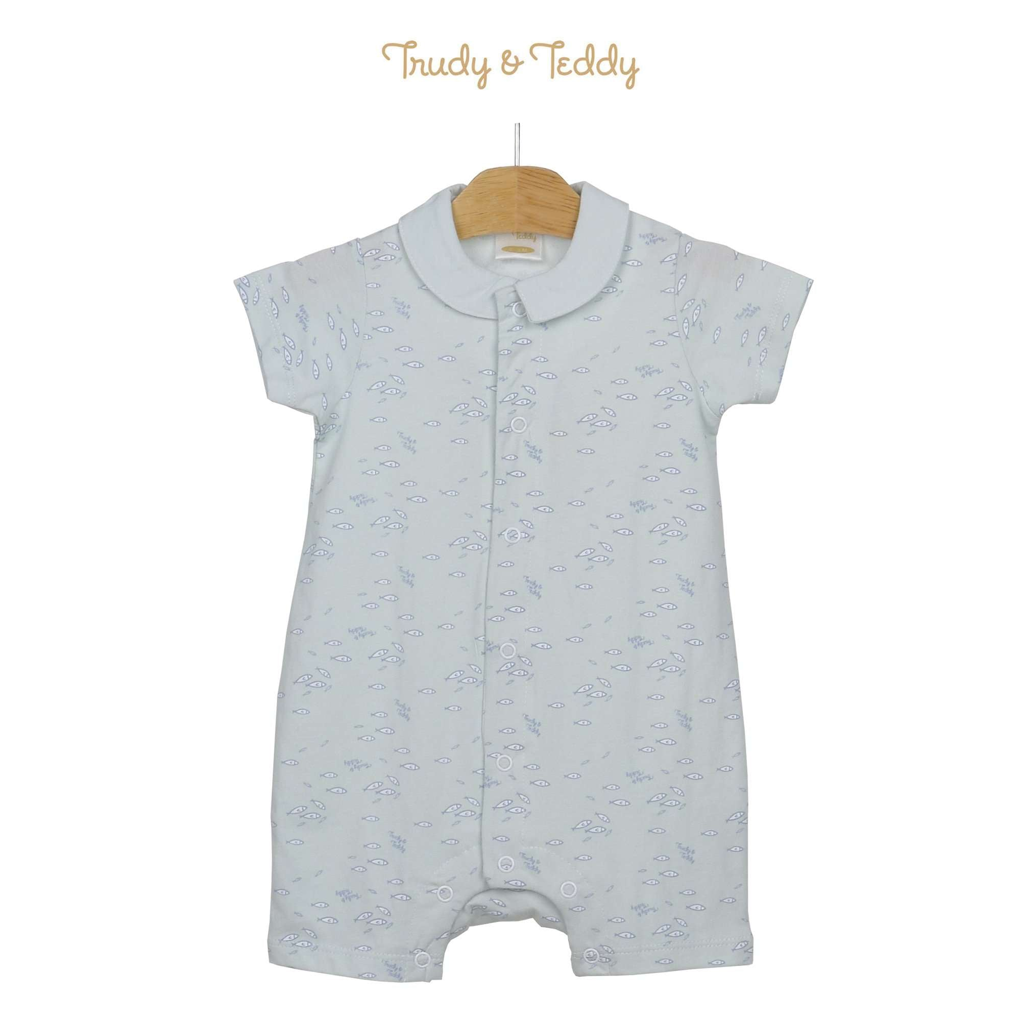 Trudy & Teddy Baby Boy Short Sleeve Short Romper 820038-361 : Buy Trudy & Teddy online at CMG.MY