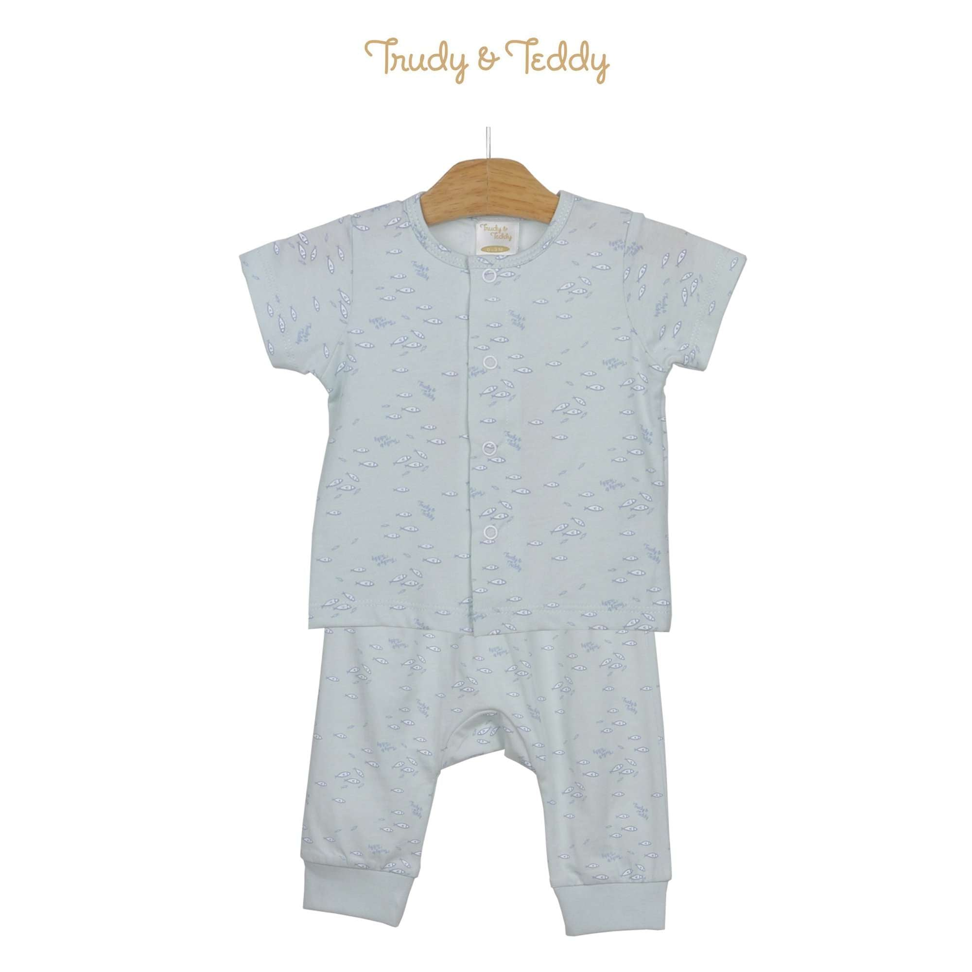 Trudy & Teddy Baby Boy Short Sleeve Long Pants Suit 820038-421 : Buy Trudy & Teddy online at CMG.MY