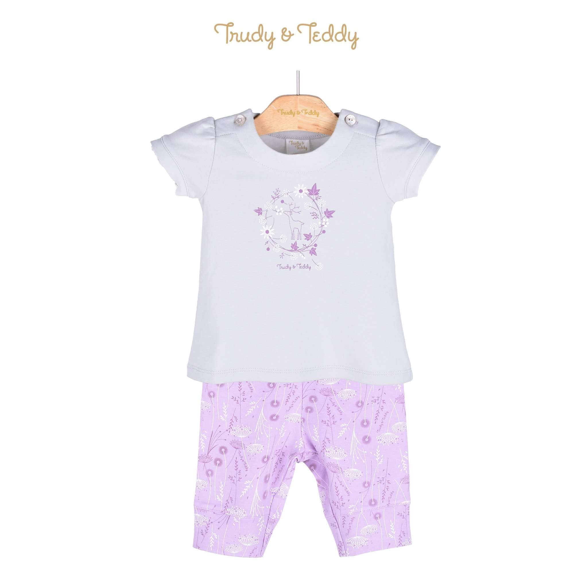 Trudy & Teddy Baby Girl Short Sleeve Bermuda Suit 820028-411 : Buy Trudy & Teddy online at CMG.MY