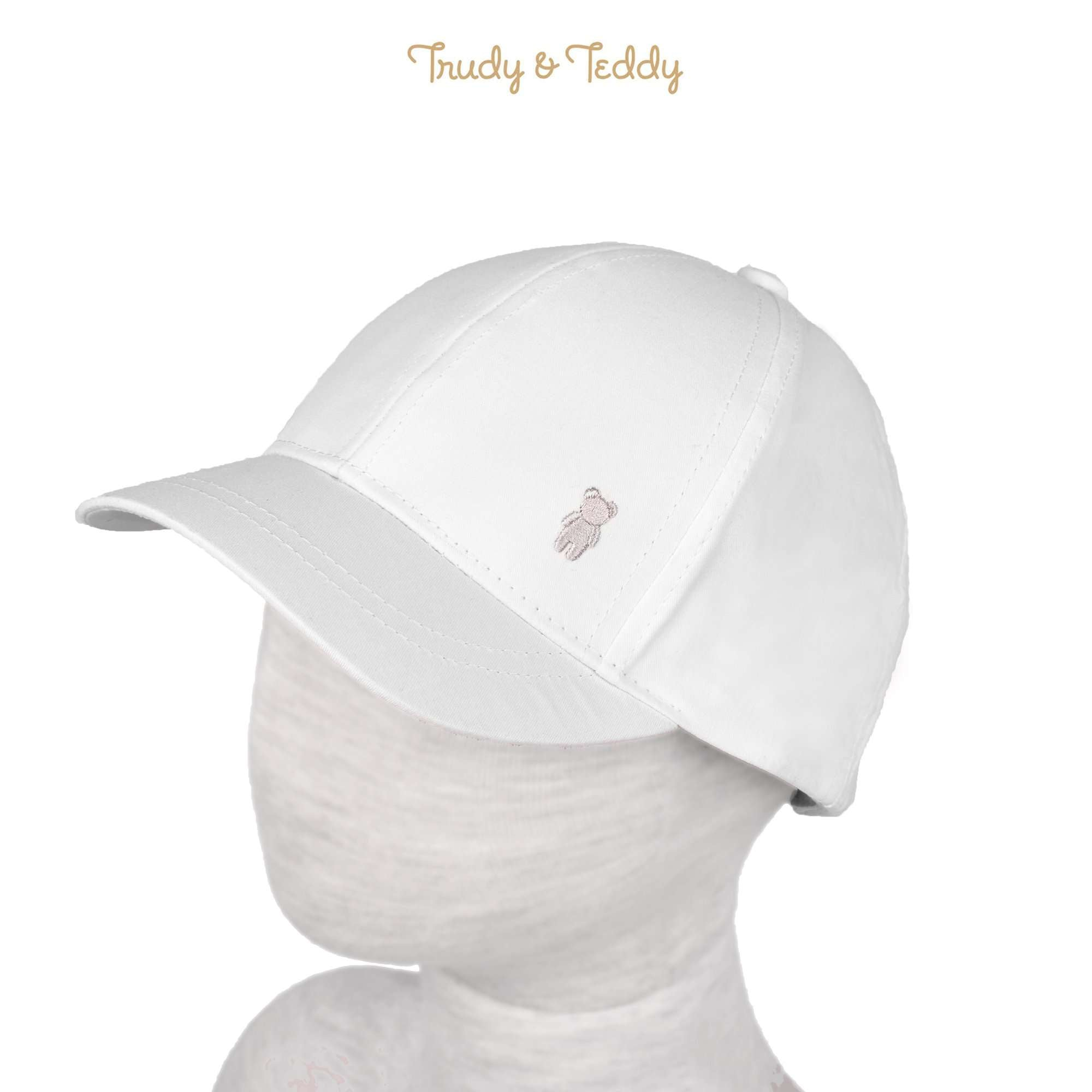 Trudy & Teddy Toddler Boy Cap - White 815158-711 : Buy Trudy & Teddy online at CMG.MY