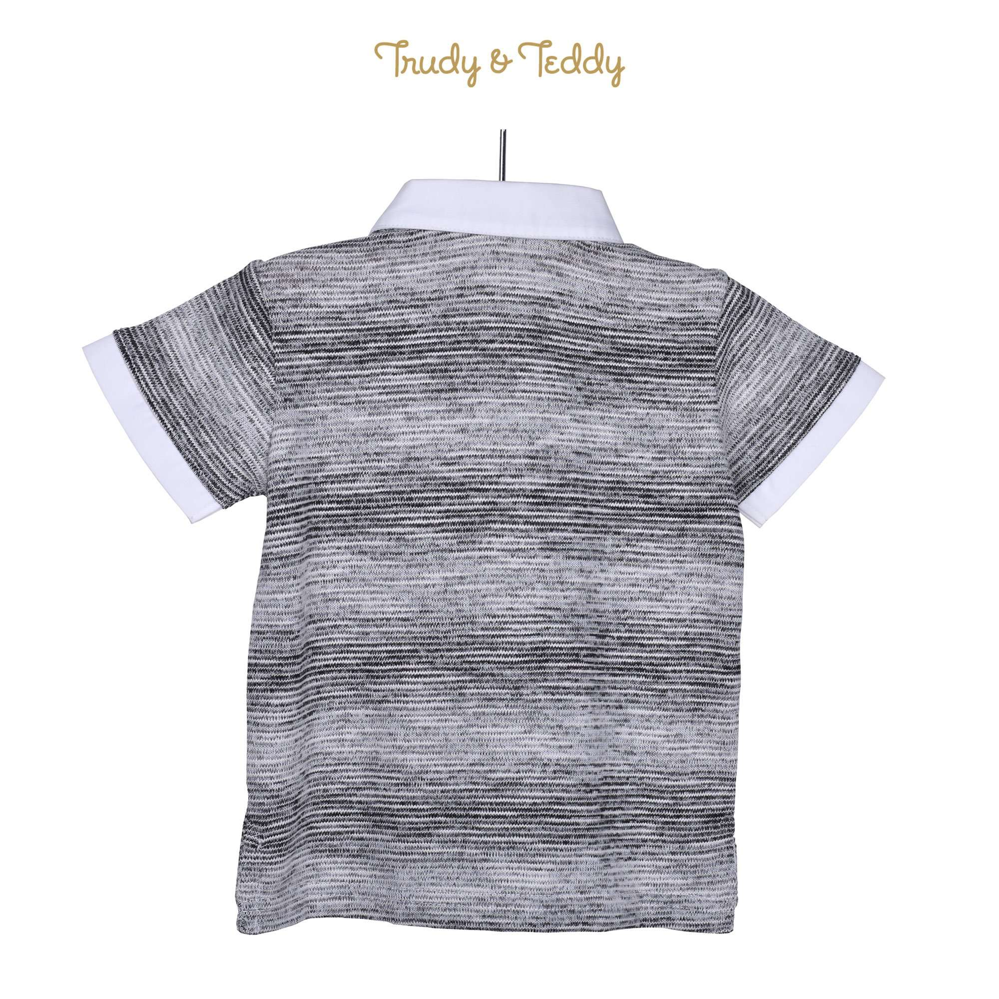 Trudy & Teddy Toddler Boy Knit Short Sleeve Collar Tee- 815165-121 : Buy Trudy & Teddy online at CMG.MY