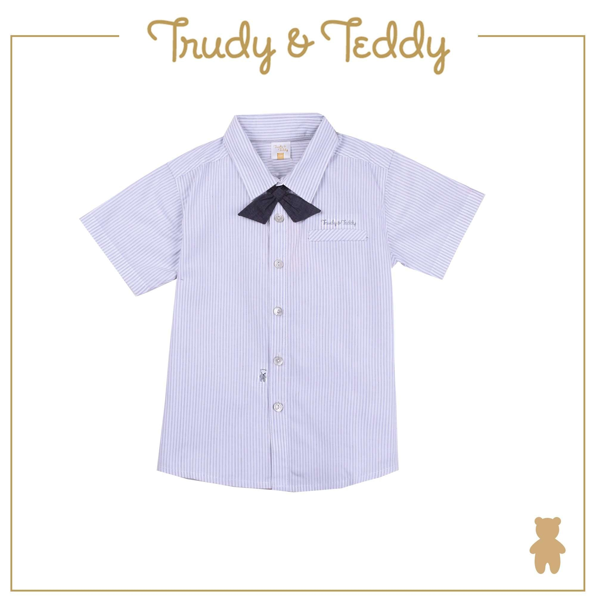 Trudy & Teddy Toddler Boy Short Sleeve Shirt - Blue T922002-1450-L5 : Buy Trudy & Teddy online at CMG.MY