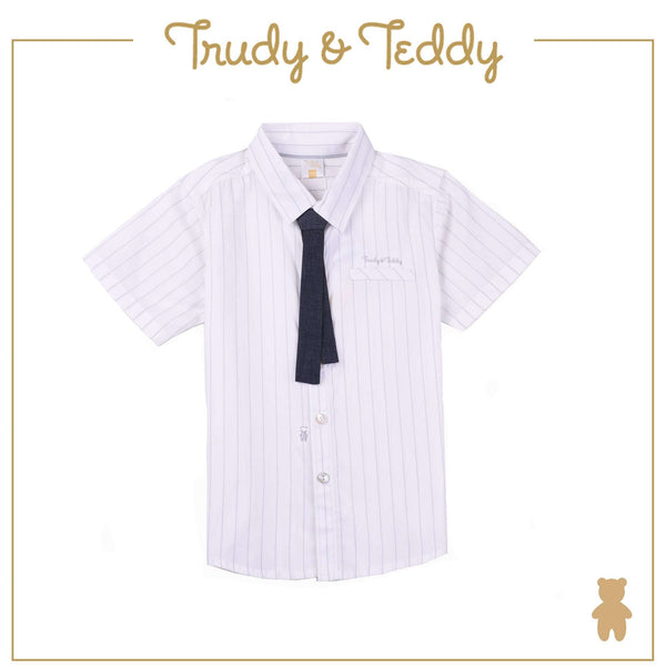Trudy & Teddy Toddler Boy Short Sleeve Shirt - Cream T922002-1451-W5 : Buy Trudy & Teddy online at CMG.MY