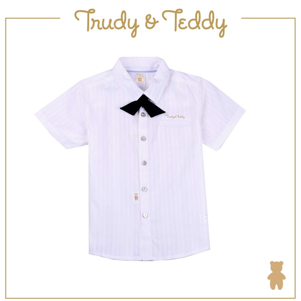 Trudy & Teddy Toddler Boy Short Sleeve Shirt - White T922002-1452-W5 : Buy Trudy & Teddy online at CMG.MY