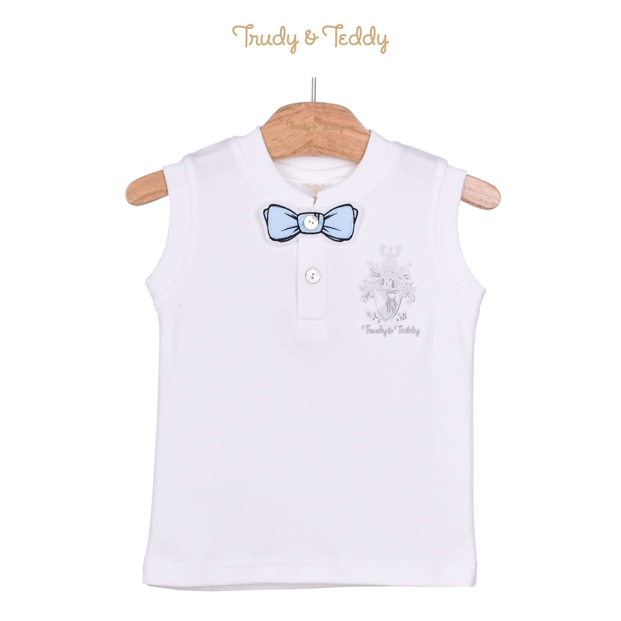 Trudy & Teddy Toddler Boy Sleeveless Tee - Off White 815150-101 : Buy Trudy & Teddy online at CMG.MY