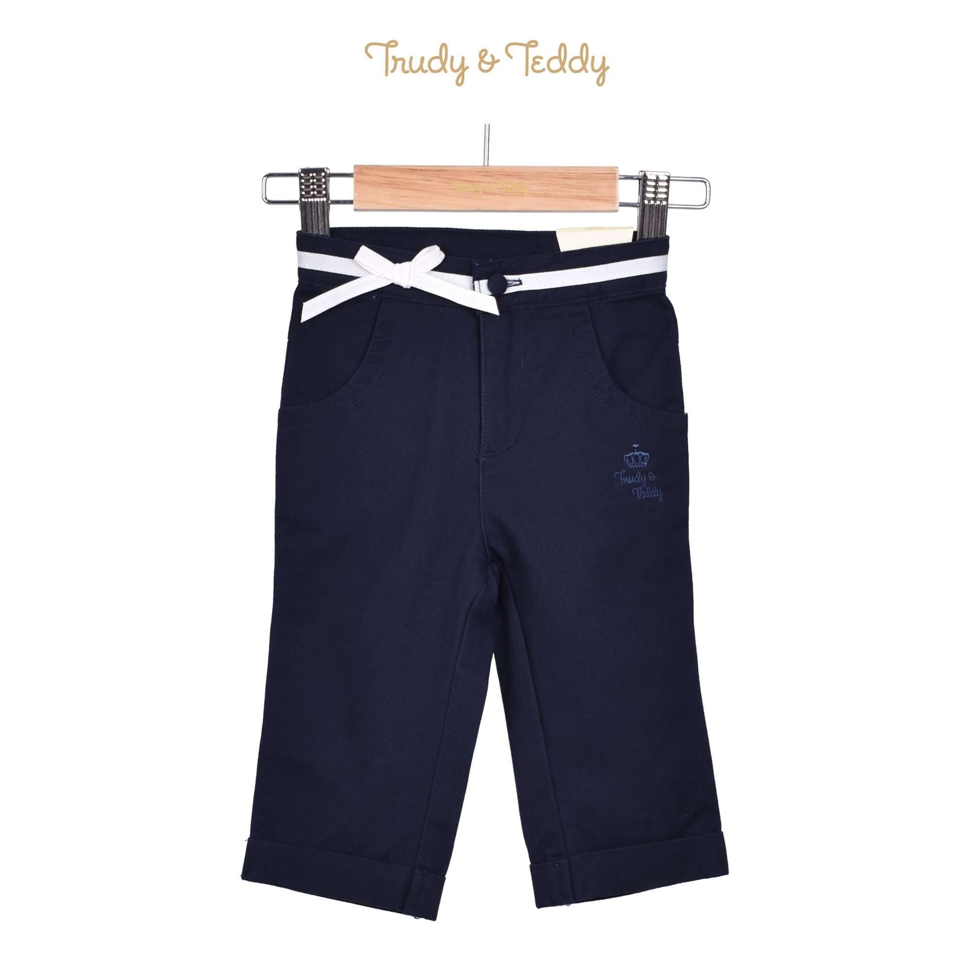 Trudy & Teddy Toddler Girl Capri Pants - Navy 815146-251 : Buy Trudy & Teddy online at CMG.MY