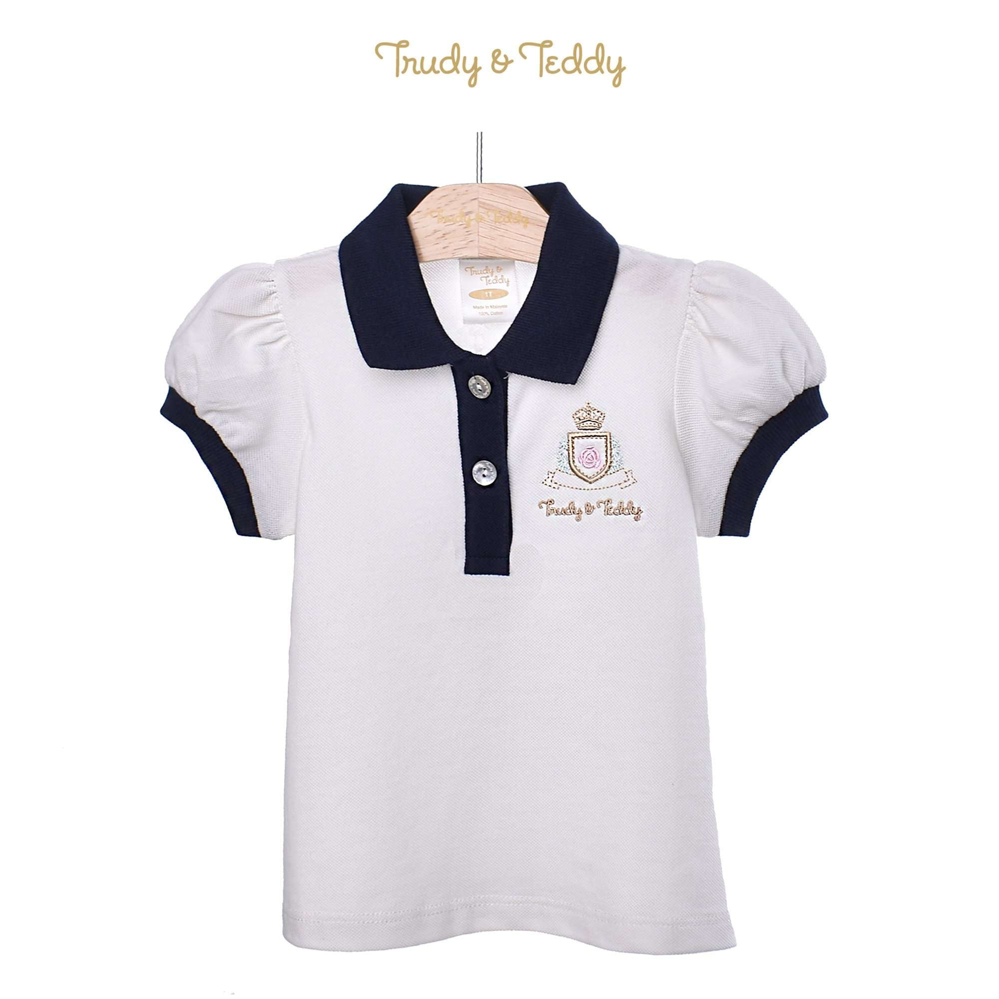 Trudy & Teddy Toddler Girl Knit Short Sleeve Collar Tee 825034-121 : Buy Trudy & Teddy online at CMG.MY