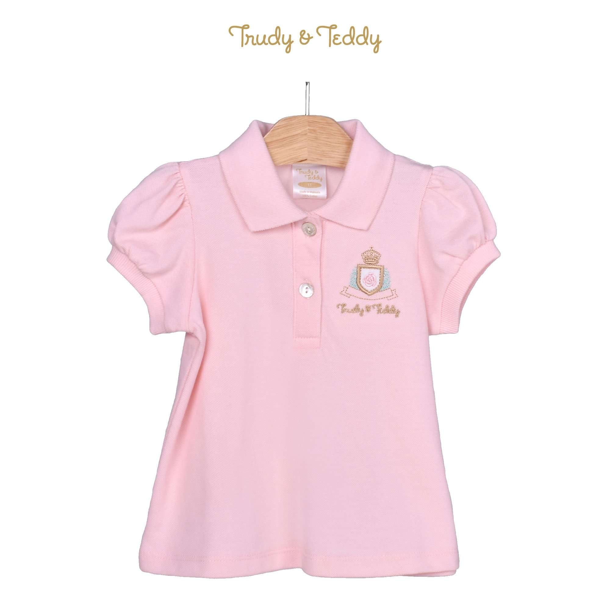 Trudy & Teddy Toddler Girl Knit Short Sleeve Collar Tee 825049-121 : Buy Trudy & Teddy online at CMG.MY