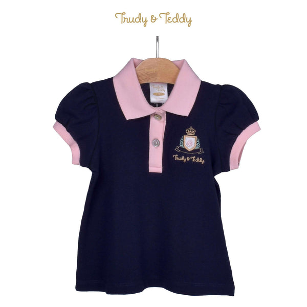 Trudy & Teddy Toddler Girl Knit Short Sleeve Collar Tee 825049-122 : Buy Trudy & Teddy online at CMG.MY