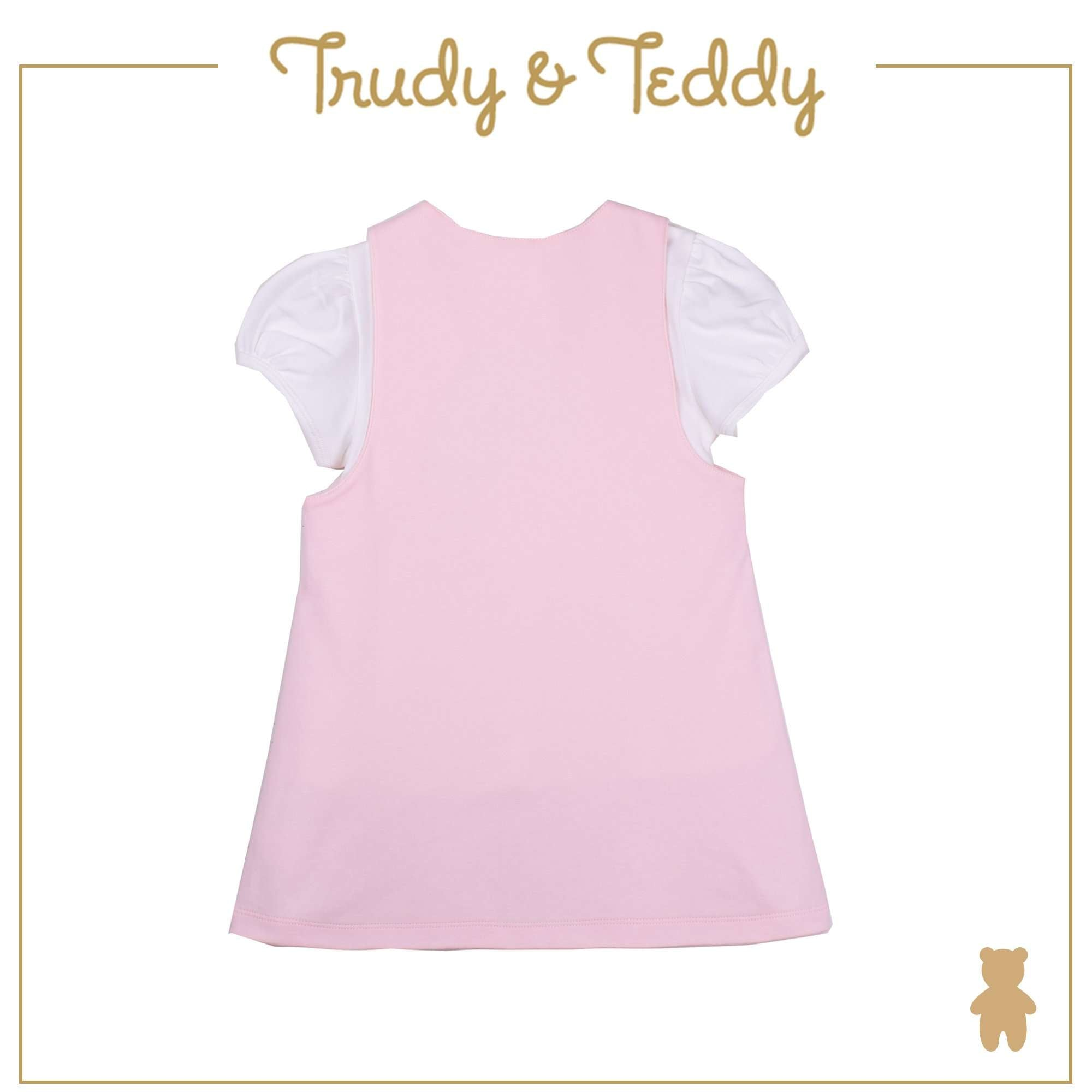 Trudy & Teddy Toddler Girl Pinafore Suit Set - Light Pink T924103-4720-P1 : Buy Trudy & Teddy online at CMG.MY
