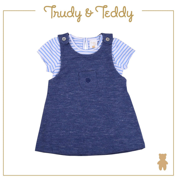 Trudy & Teddy Toddler Girl Pinafore Suit Set - Navy T914103-4707-L9 : Buy Trudy & Teddy online at CMG.MY